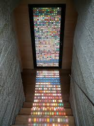 stained glass door made of pantone swatches bored panda for doors ideas 13