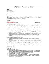 Resume Wonderful Set Of Standard Resume Sample Photos Ideas Format