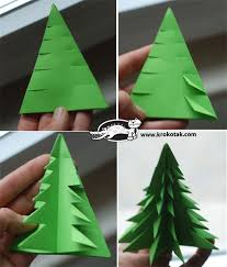 PAPER TREES~ Fun way to make paper Christmas trees with step-by-step  picture instructions! Great idea for Giving Tree!