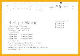 Recipe Template Word Recipe Template Word Card For Free Christmas Book Printable