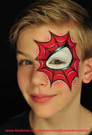 awesome and unusual spider man face painting