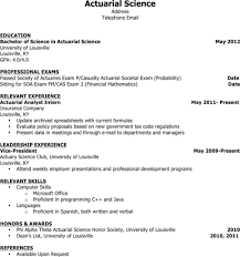 Download Actuarial Resume Templates For Free Formtemplate
