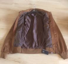 men s fashion designer brown faux suede italian type jacket made in italy label new