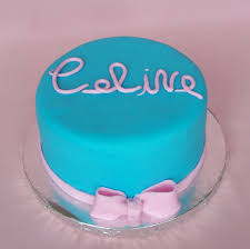Blue Birthday Cake Designs Pink And Blue Birthday Cake All Fondant Beth Flickr
