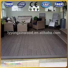 china waterproof outdoor floor covering wpc decking floor for balcony