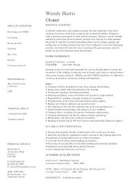 Cv For Cleaner Cover Letter Cv Cleaner Tomyumtumweb Cv Template