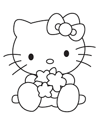 Small Picture Baby Hello Kitty Playing Toys Coloring Page H M Coloring Pages