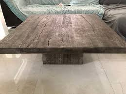 + more sizes & finishes. Reclaimed Russian Oak Plinth Square Coffee Table Restoration Hardware For Sale In Miami Fl Offerup