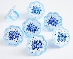 it s a boy cupcake topper rings 24