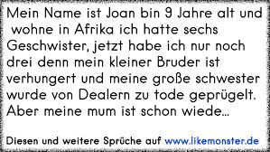 Mein Name Ist Joan Bin 9 Jahre Alt Und Wohne In Afrika Ich Hatte