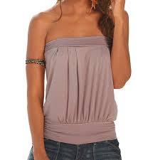 plus size tube tops hot 2017 summer beach t shirt women off shoulder t shirt plain