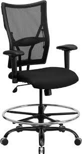 office drafting chair. Big \u0026 Tall 400lb Mesh Back Home Office Drafting Bar Counter Stools Chairs W-adj Chair C