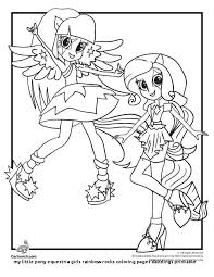Inspirational Mlp Eg Rainbow Rocks Coloring Pages Nichome