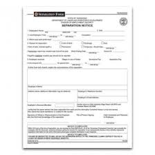 Separation Notice Tennessee Separation Form Tennessee Legal Separation Tennessee Separation Notice