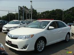 toyota camry 2012 white. Perfect 2012 2012 Camry Hybrid XLE  Super White  Ivory Photo 3 On Toyota O