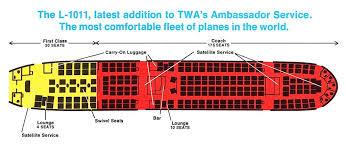 Twa L 1011 Seat Diagram 1972 Lounge Seating Bar Lounge