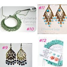 20 easy diy earrings it happens in a blink