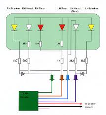 class 150 dcc and lighting update circuit diagram for trailer car lighting connections