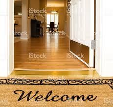 open front door welcome. \u0027Welcome\u0027 Mat In Front Of White Open Door Royalty-free Stock Photo Welcome F