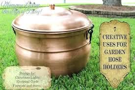 garden hose storage pot. Water Hose Holder Garden Storage Pot With Lid Ideas