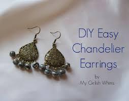 diy easy chandelier earrings