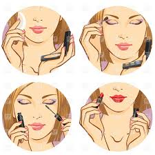 woman face doing make up using cosmetic vector image vector artwork of to zoom
