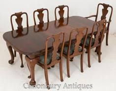 victorian dining set gany tables and chairs 1900