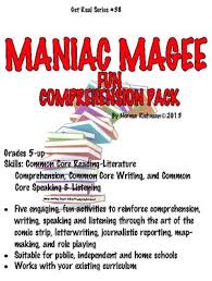 best maniac magee ideas novel definition it  maniac magee fun comprehension pack common core