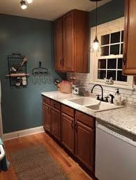 Kitchen wall colors with oak cabinets Modern Kitchen 30 Beautiful Blue Kitchen Decorating Ideas Pinterest Top Wall Colors For Kitchens With Oak Cabinets In 2019 Paint