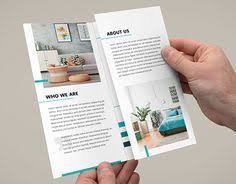 Interior Design Tri Fold Brochure Features Higlhy Creative Images