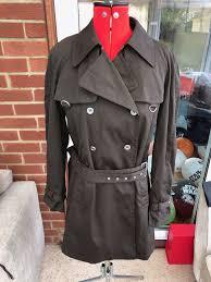Paul Costelloe Dressage Brown Belted Coat Mac Trench Coat