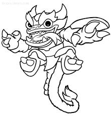 Skylanders Trap Team Coloring Pages For Kids Coloringstar