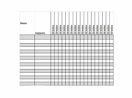 Teacher Grading Scale Chart Printable 30 Free Gradebook Templates Template Archive