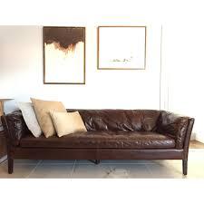 restoration hardware sorensen leather sofa