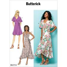 Wrap Dress Sewing Pattern Delectable Misses Wrap Dresses Butterick Sewing Pattern 48 Sew Essential
