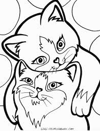 Free Cat Coloring Pages To Print Elegant Christmas Cat Coloring Page