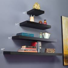 Where To Buy Floating Wall Shelves Awesome Manhattan Black Wooden Floating Wall Shelves