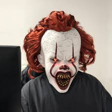 Halloween Mask Light Up Eyes New Chilling Glowing Led Eyes Stephen Kings 2019 Chapter Two It Pennywise Mask For Cosplay Halloween Joker Clown Prop