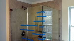 Install frameless glass doors for tile shower - YouTube