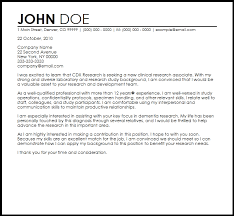 Sample Research Cover Letter Free Clinical Research Associate Cover Letter Templates Cover