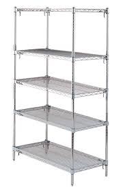 super adjule 2 chrome plated super erecta shelves 72 w x 18 d 5 shelves starter unit