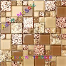 Tile Decor Store Aliexpress Buy sea shell bathroom tiles decor yellow glass 59