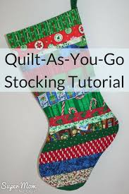 Best 25+ Quilted christmas stockings ideas on Pinterest | DIY ... & Quilt-As-You-Go Christmas Stocking Tutorial with complete step-by- Adamdwight.com
