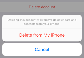 Image result for iphone delete account