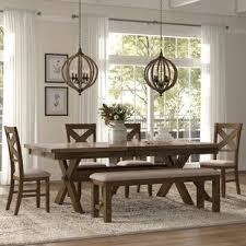 poe 6 piece extendable dining set
