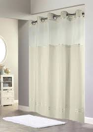 details about hotel quality shower curtain with snap in liner beige wit fabric curtains