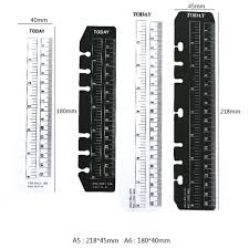 Today Bendable Page Ruler A5 A6 Pvc Matt Frosted Bookmarks Planner