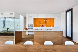 Orange And White Kitchen Housing Building Of Seven Units In Kirchberg Keribrownhomes