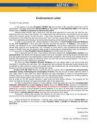 endorsement letter adriana