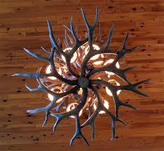 antique antler ceiling fan light kit